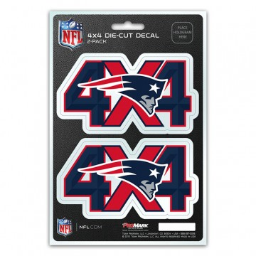 New England Patriots 4x4 Decal Pack
