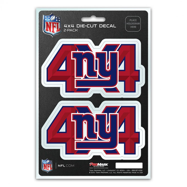 New York Giants 4x4 Decal Pack