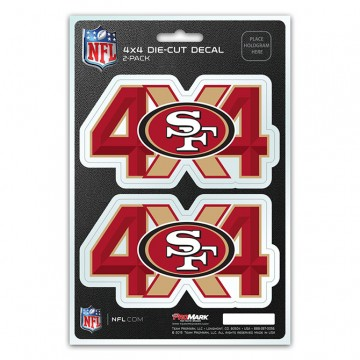 San Francisco 49ers 4x4 Decal Pack