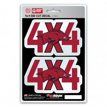 Arkansas Razorbacks 4x4 Decal Pack