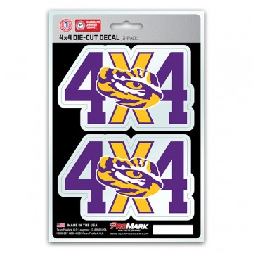 Louisiana State Tigers 4x4 Decal Pack