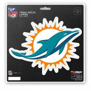 Miami Dolphins 8X8 Die Cut Team Decal