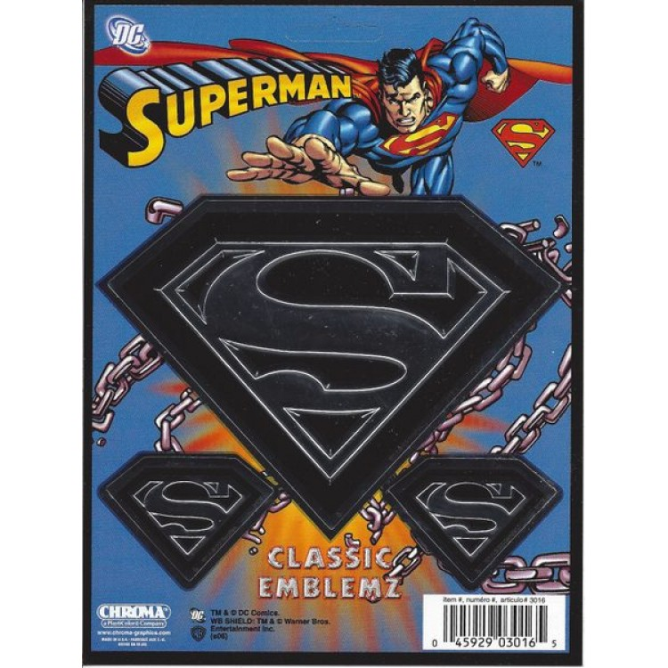 Superman 3-piece Embossed Decal