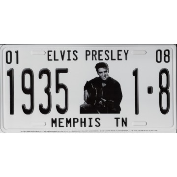 Elvis With Guitar Memphis TN Metal License Plate