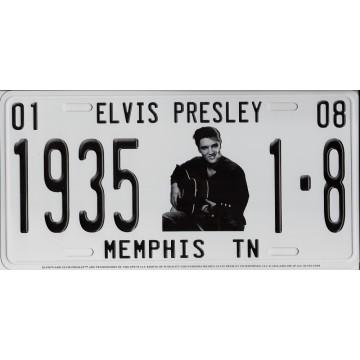 Elvis With Guitar Memphis TN Metal License Plate