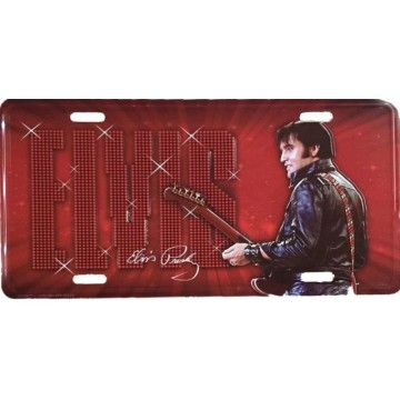 Elvis Presley '68 Metal License Plate