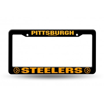 Pittsburgh Steelers Black Plastic License Plate Frame