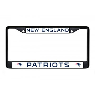 New England Patriots Black License Plate Frame