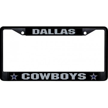 Dallas Cowboys Black License Plate Frame
