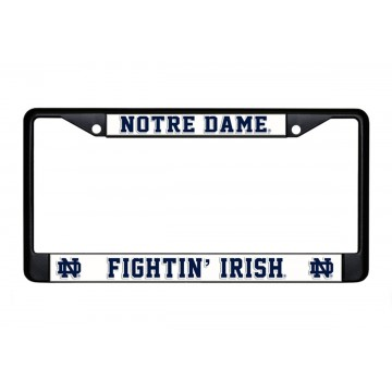 Notre Dame Fightin' Irish Black License Plate Frame