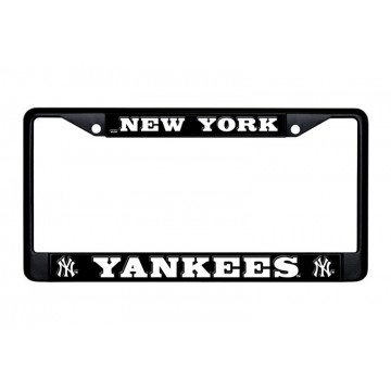 New York Yankees Black License Plate Frame