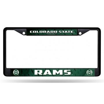 Colorado State Rams Black License Plate Frame