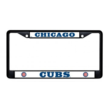 Chicago Cubs Black License Plate Frame
