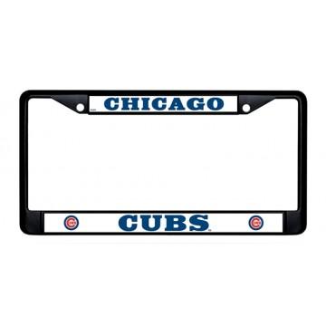 Chicago Cubs Black License Plate Frame