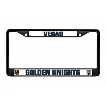 Las Vegas Golden Knights Black License Plate Frame