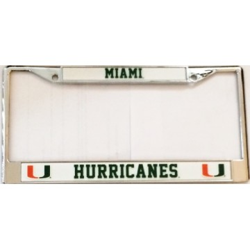 Miami Hurricanes Chrome License Plate Frame