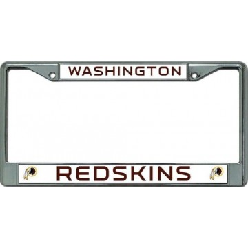 Washington Redskins Chrome License Plate Frame