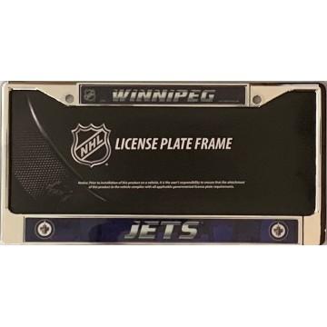 Winnipeg Jets Chrome License Plate Frame
