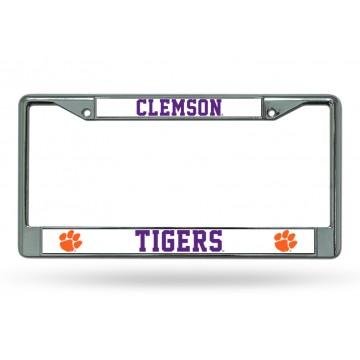Clemson Tigers Chrome License Plate Frame