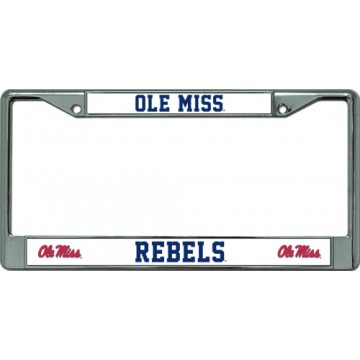 Ole Miss Rebels Chrome License Plate Frame