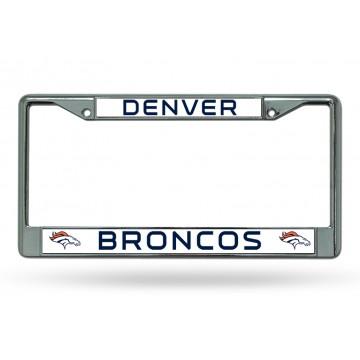 Denver Broncos Chrome License Plate Frame