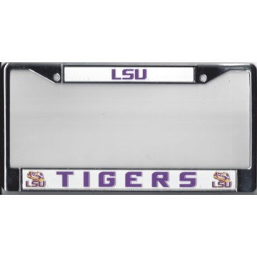 LSU Fighting Tigers Chrome License Plate Frame