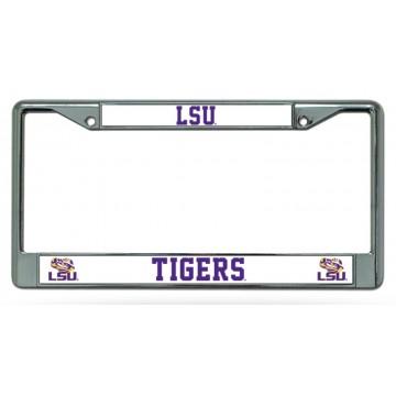 LSU Tigers Chrome License Plate Frame