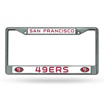 San Francisco 49'ers Chrome License Plate Frame