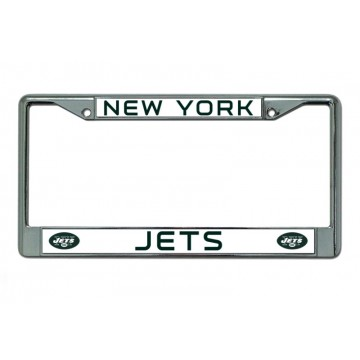 New York Jets Chrome License Plate Frame