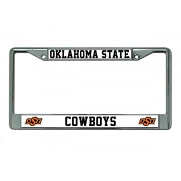 Oklahoma State Cowboys Chrome License Plate Frame