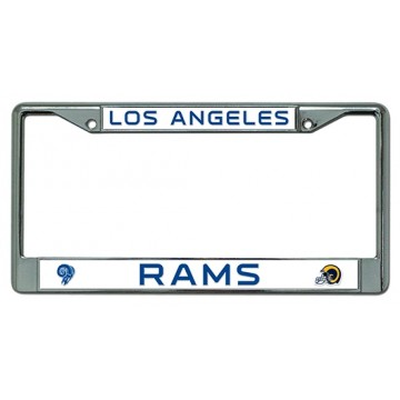 Los Angeles Rams Chrome License Plate Frame