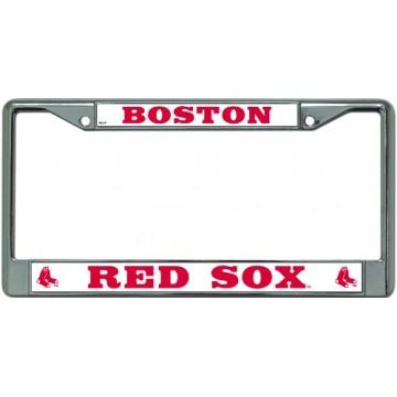 Boston Red Sox Chrome License Plate Frame