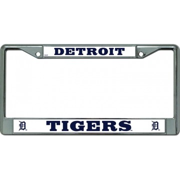 Detroit Tigers Chrome License Plate Frame