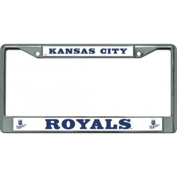Kansas City Royals Chrome License Plate Frame