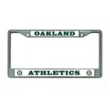 Oakland Athletics Chrome License Plate Frame