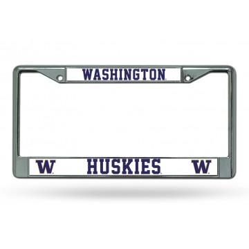 Washington Huskies Chrome License Plate Frame