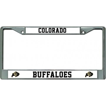 Colorado Buffaloes Chrome License Plate Frame
