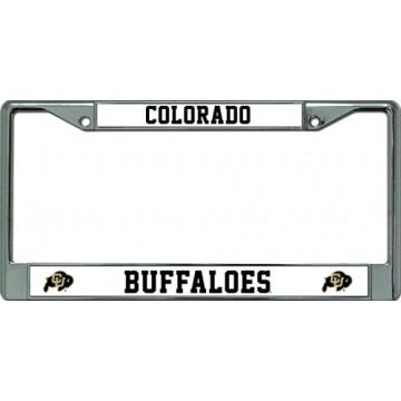 Colorado Buffaloes Chrome License Plate Frame