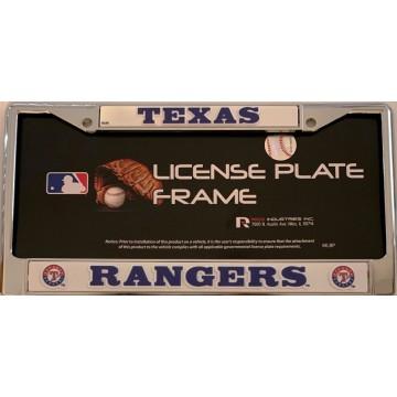 Texas Rangers Chrome License Plate Frame