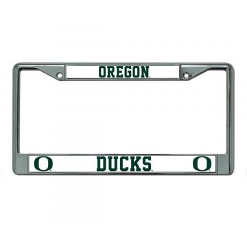 Oregon Ducks Chrome License Plate Frame