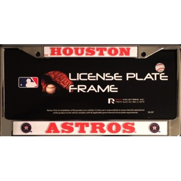 Houston Astros Chrome License Plate Frame