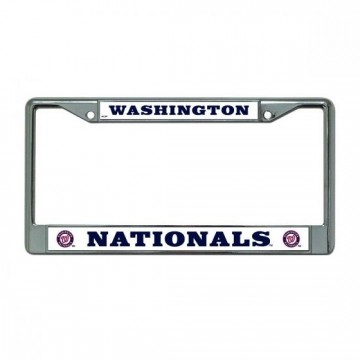 Washington Nationals Chrome License Plate Frame