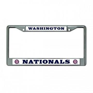 Washington Nationals Chrome License Plate Frame