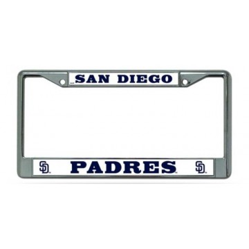 San Diego Padres Chrome License Plate Frame