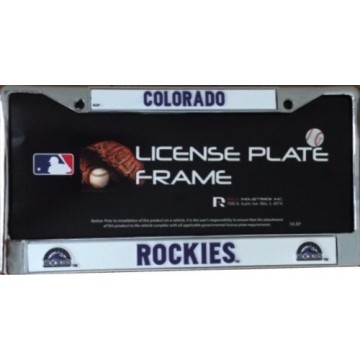 Colorado Rockies Chrome License Plate Frame