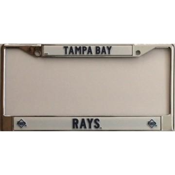 Tampa Bay Rays Chrome License Plate Frame