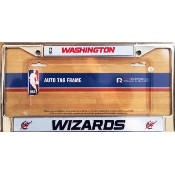 Washington Wizards Chrome License Plate Frame