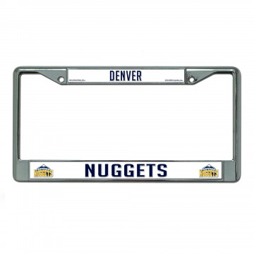 Denver Nuggets Chrome License Plate Frame