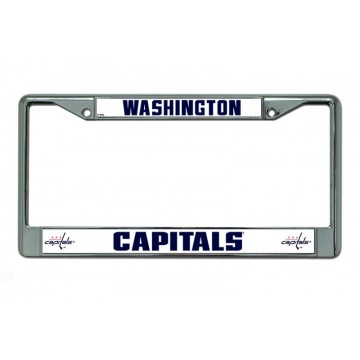 Washington Capitals Chrome License Plate Frame