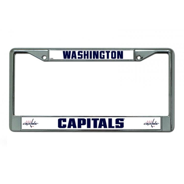Washington Capitals Chrome License Plate Frame